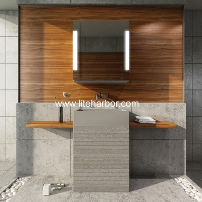 Design bathroom mirror cabinets with lighting