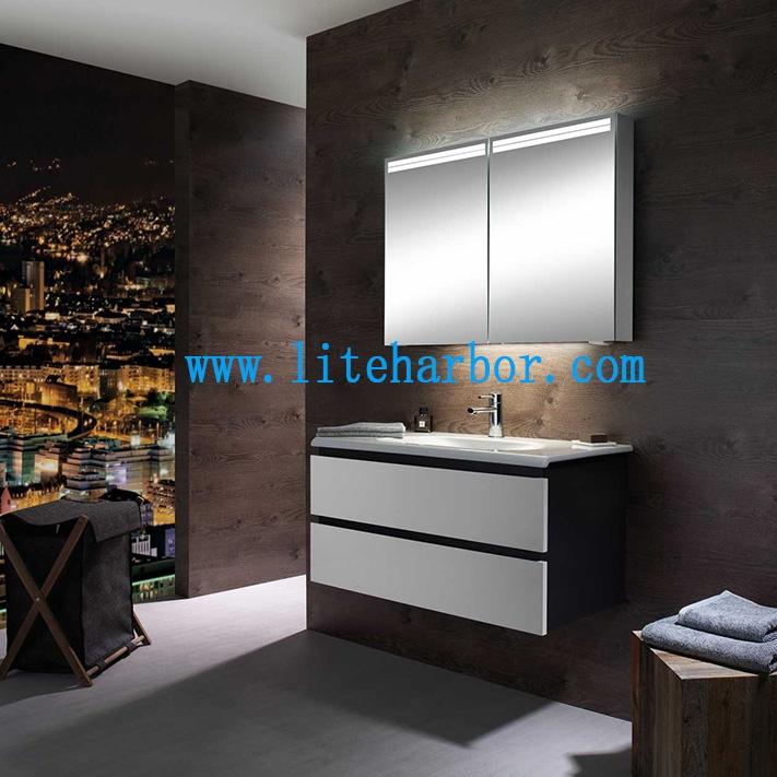 Liteharbor Lighting Hotel Bathroom Cabinet LED Mirror