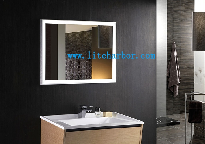 Bathroom mirror with lighting for Europe and America market