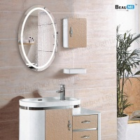Liteharbor Customized Multi-functional Bathroom Oval LED Mirror Lights