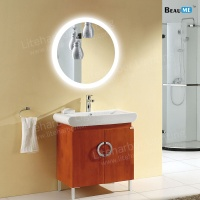 Liteharbor Customized Size Round Illuminated Bathroom Mirror
