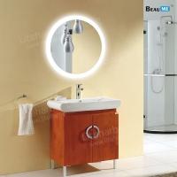 Liteharbor Customized Size Round Illuminated Bathroom Mirror