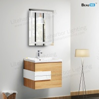 Liteharbor Customized Size Bathroom Illuminated Mirror