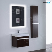 Liteharbor Frameless Fog Resistant Bathroom Illuminated Mirror