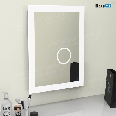 Liteharbor Customized Size LED Bathroom Mirror with Magnifier