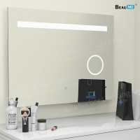 Liteharbor Frameless Customized Size LED Bathroom Magnifying Mirror Light