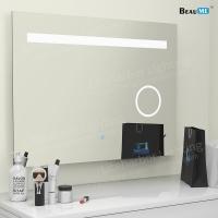 Liteharbor Frameless Customized Size LED Bathroom Magnifying Mirror Light