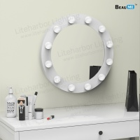 Liteharbor Wall Mounted Hollywood Lighted Mirror with Bulbs