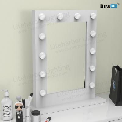Liteharbor Square Shape Single Side Desktop Hollywood Mirror