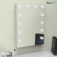 Liteharbor Single Side Wall Mounted LED Lighted Hollywood Mirror