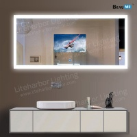 Liteharbor IP44 Smart Touch LED Lighted TV  Mirror