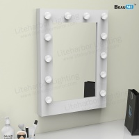 Liteharbor Square Shape Single Side Wall Mounted Hollywood Mirror