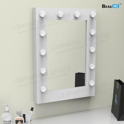 Liteharbor Square Shape Single Side Wall Mounted Hollywood Mirror