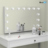 Liteharbor Wall Mounted Hollywood Makeup Mirror with Light