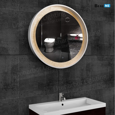 Liteharbor Circular Wall Mounted Edge-lit LED Mirror