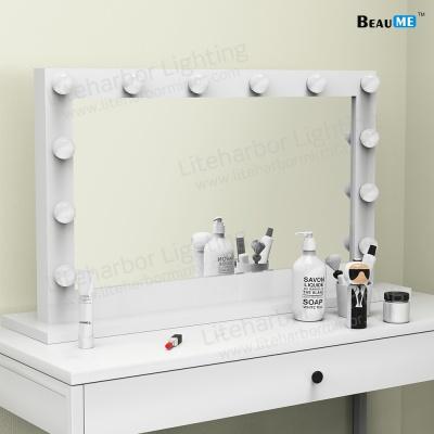Liteharbor Wall Mounted Hollywood Makeup Mirror