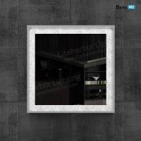Liteharbor Wall Mounted Square Back-lit Mirror