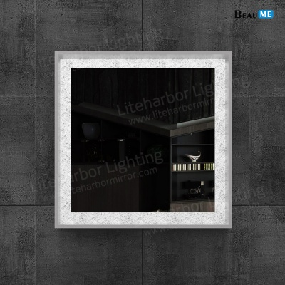 Liteharbor Wall Mounted Square Back-lit Mirror
