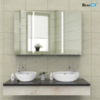 Liteharbor Customized Size LED Tri-fold Mirror Light