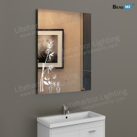 Liteharbor Bathroom Art Mirror with LED Light
