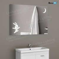 Liteharbor Illuminated Art Mirror with Animals Silhouette
