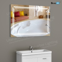 Liteharbor Rectangle Wall Mounted Illuminated Art Mirror
