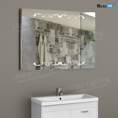 Liteharbor Customized LED Illuminated Mirror with Pattern
