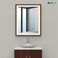 Liteharbor Wooden Frame Mirror with LED Light