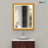 Liteharbor Bathroom LED Lighted Mirror with Wooden Frame