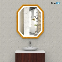 Liteharbor High-end Wooden Frame Bathroom Illuminated Mirror