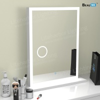 Liteharbor Modern Desktop Magnifying Mirror with Lights