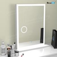 Liteharbor Modern Desktop Magnifying Mirror with Lights