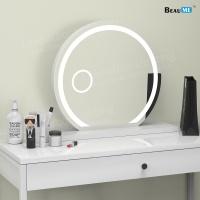 Liteharbor Round Shape Desktop Magnifying Mirror Light