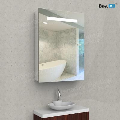 Liteharbor Wall Mounted Lighted LED Bath Mirror Cabinet