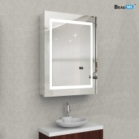 Liteharbor Inset Rectangle Bathroom Lighted Mirror Cabinet