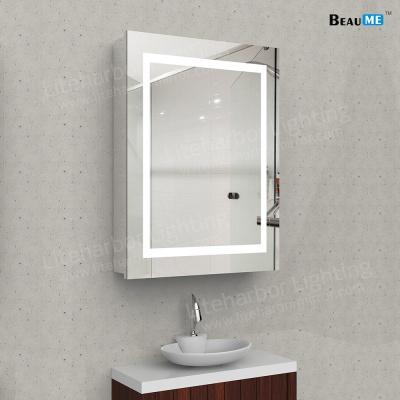 Liteharbor Inset Rectangle Bathroom Lighted Mirror Cabinet