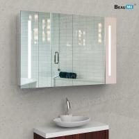 Liteharbor Bathroom Wall Illuminated Mirror with Cabinet