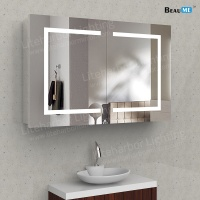 Liteharbor Silver Backed Illuminated Mirror Cabinet