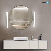 Liteharbor Classical Round Shape LED Illuminated Mirror